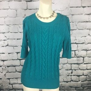 NWT Banana Republic Sweater Blue Teal Sz Medium